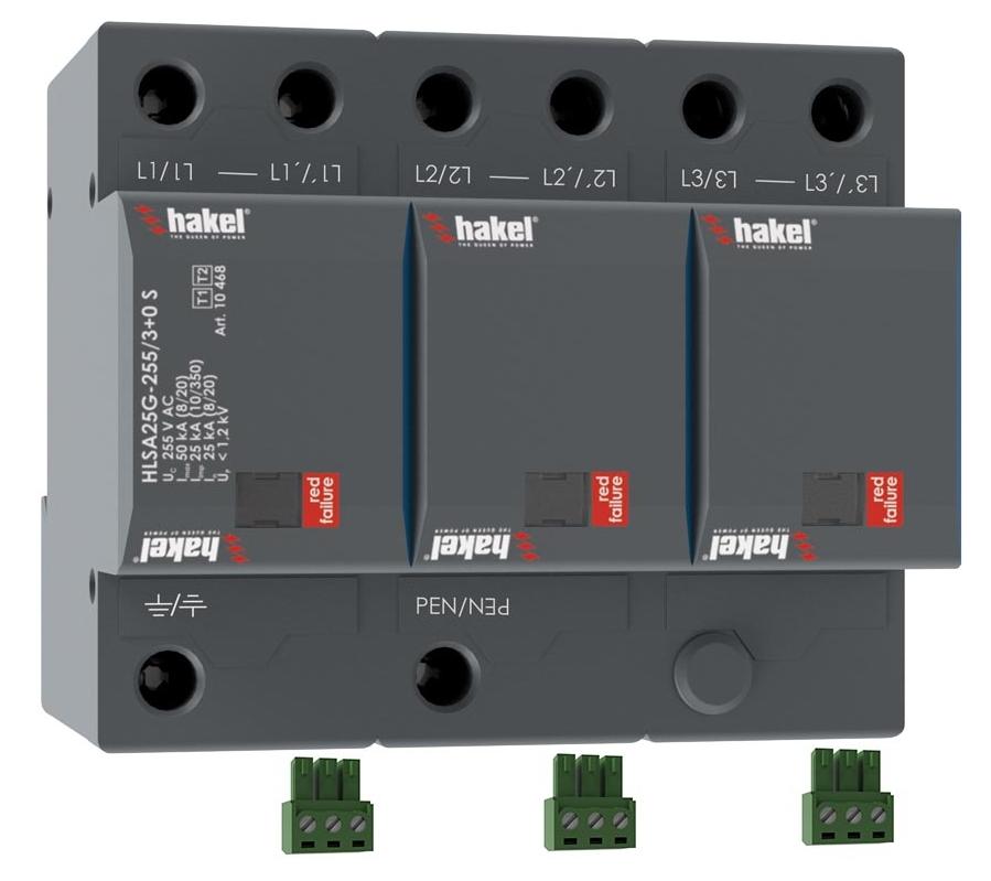 Ograniczniki przepięć typu 1+2 HLSA25G-255/3+0